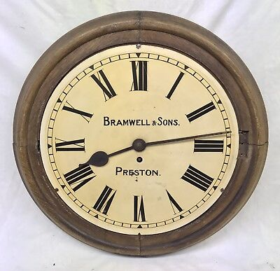 Stunning Rare Antique Fusee Clock Dial And Movement BRAMWELL & SONS PRESTON
