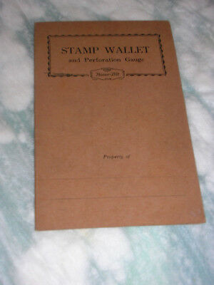 Stamp wallet with  perforation gauge on inside