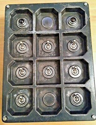 Vintage Tucker 8 Bank Industrial Factory Reclaimed Light Switch Crabtree Wow