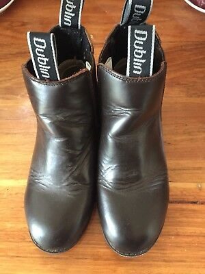 Dublin Brown Leather Horse Riding Boots Size AUS 13/ US 2
