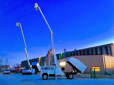 Ford F700 Forestry Bucket Truck Altec Chipper Dump Bed Cummins Diesel Low Miles