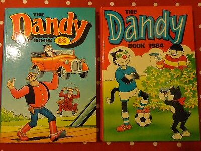 2   vintage DANDY annuals, 1984 and 1985  superb condition and unclipped
