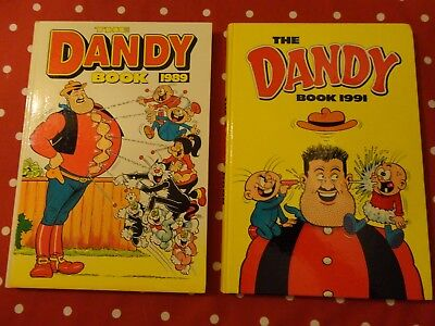 2   vintage DANDY annuals, 1989 and 1991  superb condition and unclipped