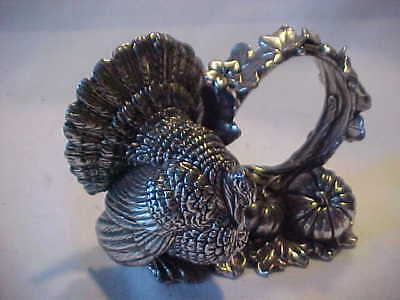 Reed and Barton 1824 Coll.silver plated Harvest Turkey napkin ring  clean 2005