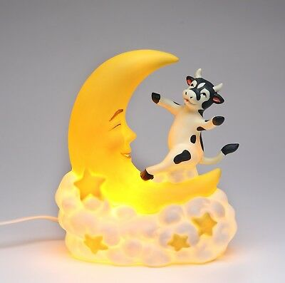 61525 - Cosmos Porcelain Cow Jump Over The Moon Night Light