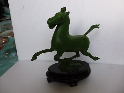 Chinese Flying horse on swallow (Gansu?) metal figurine