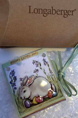 Longaberger Easter Bunny Tie-On / PIN - Not dated - New - USA - Too Cute!!!