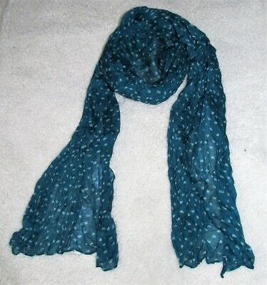 Arizona Juniors Girls lightweight crinkle scarf Royal Teal