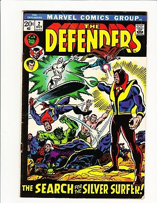 The Defenders #2 Marvel 1972 Search For The Silver Surfer Hulk Dr Strange Subby!