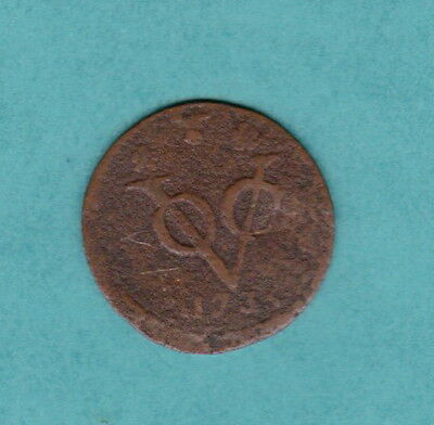 1735 Dutch East Indies, 1 Cent - Indonesia, Asia - Vintage Coin