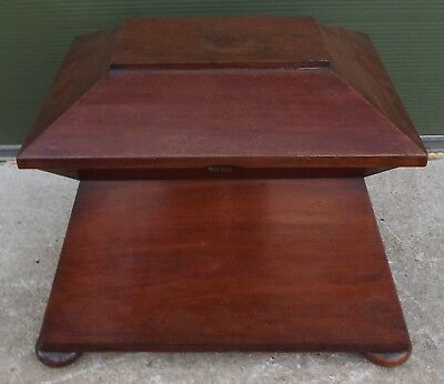 ANTIQUE C19th MAHOGANY SARCOPHAGUS CELLARETTE MARKED WILLIAM FREEMAN OF NORWICH