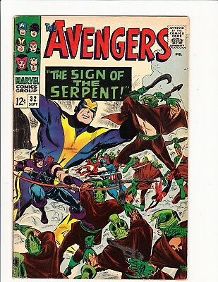 The Avengers #32 Stan Lee Don Heck Captain America Signs Of The Serpent 1966 Hot