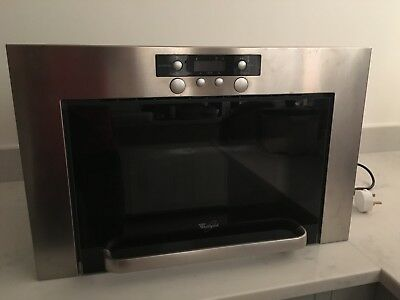 Whirlpool Stainless Steel Integrated Microwave - EXCELLENT CONDITION