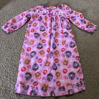 Paw Patrol Girl's Flannel Nightgown Size 4T