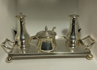 antique solid silver cruet set. Harry Airmen Sheff.
