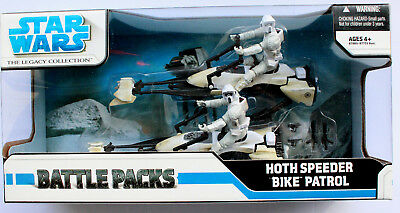 Star Wars The Legacy Collection Hoth Speeder Bike Patrol Battle Pack Hasbro