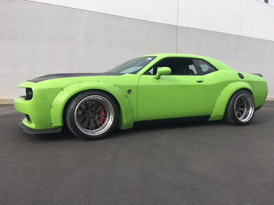 2015 Dodge Challenger 2dr Coupe SRT Hellcat 2015 Dodge Hellcat SRT Wide Body by Liberty Walk in Sublime Pearl 1500 Miles