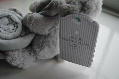 Brand new grey fluffy elephant comforter from mothercare