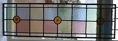 Leaded light stained glass window panel for above door R690. DELIVERY!!!