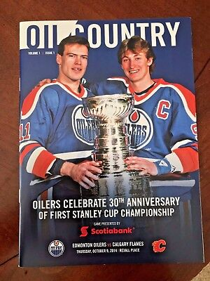 1983-84 NHL Edmonton Oilers Stanley Cup Champions 30th Anniversary Game Program