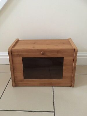 VINTAGE WOODEN FLIP DOWN FRONT BREAD BIN. Could be used as a cabinet