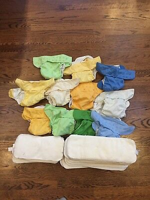 11 Bum Genius Snaps Bumgenius All In One Lot Of 11 Cloth Diapers and Inserts