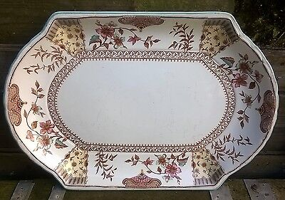 "Large Ridgways Lichfield pattern serving platter circa 1880s approx 20"" x 13¾"""