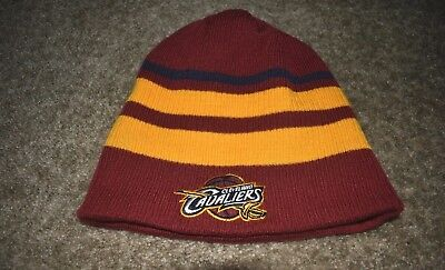bb2ef0422f1 adidas NBA Cleveland Cavaliers Cuffless Winter Knit Cap Hat Beanie  Reversible