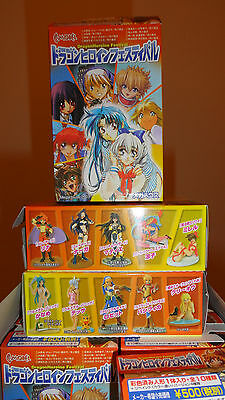 Dragon Heroine Festival Anime Manga 10 Figure Set Box NEW US Seller RARE