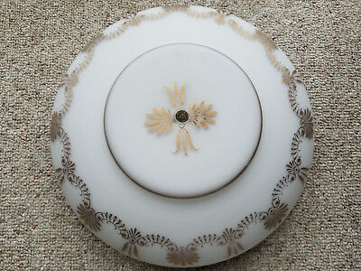 """VINTAGE 50-60's Frosted Glass Dome Ceiling Light Shade Cover ~ 13 1/2"""" Diameter"""