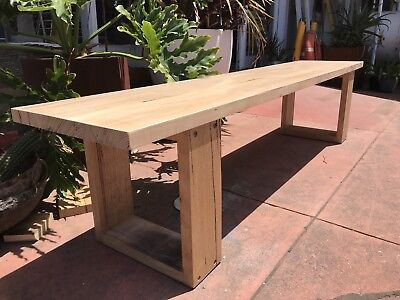 Modern Custom Made Hardwood Dining Table Bench Seats Melbourne