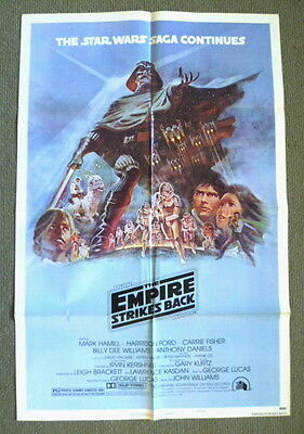 Star Wars ~ The Empire Strikes Back ~ 1980 U.s. Style 'b' One Sheet Movie Poster