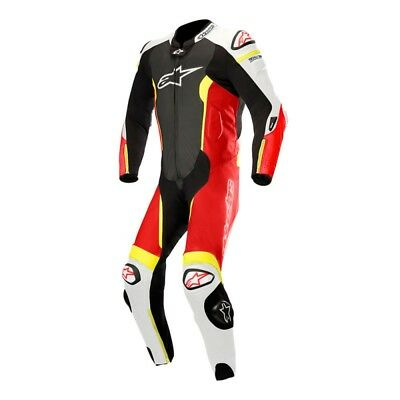 Alpinestars Missile Mens 1-Piece Race Suit Black/White/Red/Yellow