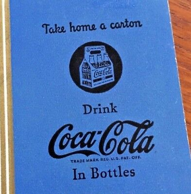 Coca Cola 1930s Coupon Good For Playing Cards Piqua Bottling Ohio Wheat Design