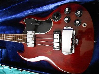Vintage Gibson EB-3 Stereo Bass Guitar 1969 and Hard Case