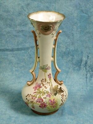 Antique Vase Gold Gild Cream Brown Rose Royal Hanover Austria Bavaria 19th c