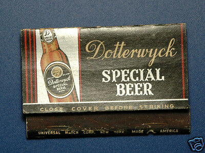 Dotterwyck Special Beer Matchbook  - Empire State Brewing - Olean NY
