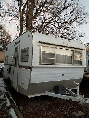 1969 Forester 7X16 Vintage Canned Ham Camper Travel Trailer Electric Toilet
