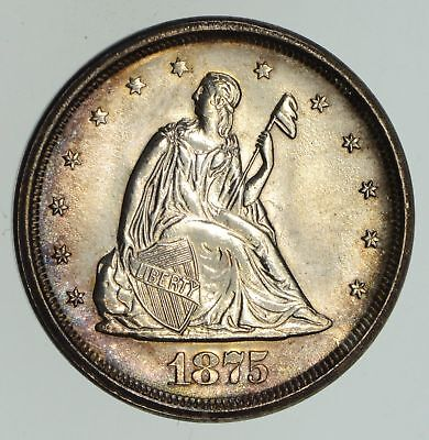1875-S Seated Liberty Twenty Cents - Not Circulated *4712