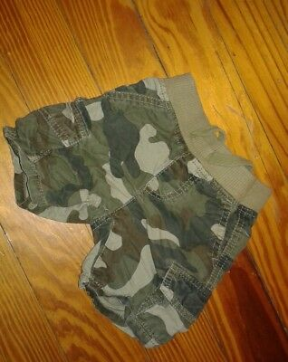 EUC Crazy 8 Infant Boys Shorts Size 12-18 Months Camoflauge Cargo