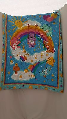 """Care Bear Quilted Homemade Blanket 40"""" X 30"""""""