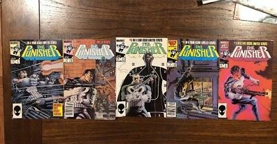 The Punisher 1-5 1986 Limited Series Mike Zeck Marvel Comics Ships In Gemini
