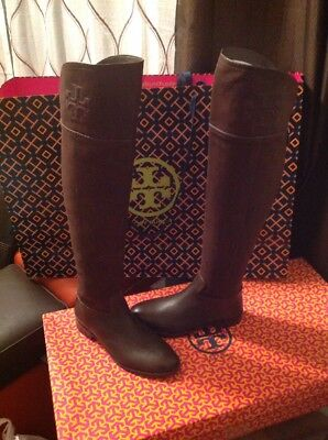 d7d29c5d0c73e3 TORY BURCH BLACK Leather Simone Over Knee Boot Size 5 -  302.99 ...