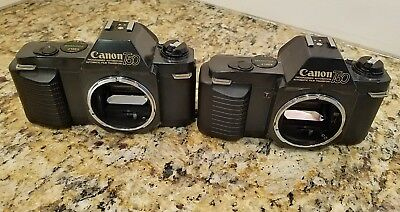 Lot of 2 Canon T50 SLR Film Camera Body Only - Untested