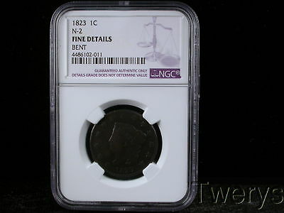 1823 Liberty Head Large Cent N-2 Ngc Fine Details