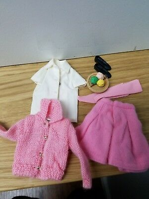 Vintage Barbie Skipper Outfit School Days #1907 Complete in EUC