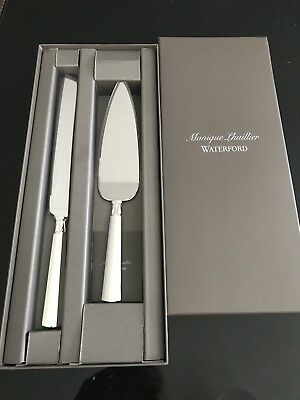Monique Lhuillier Waterford Wedding Knife and Server