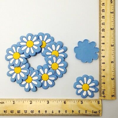 Kid's Gift 10pcs Blue Flower Crafts Flatback Charm Fit For Phone /Clips/Badge