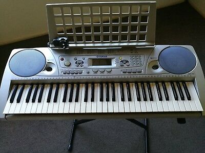 Yamaha Keyboard PRS 275 plus metal stand