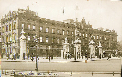 Postcard.topographical.buckingham Palace.early Souvenir Card.real Photo Image